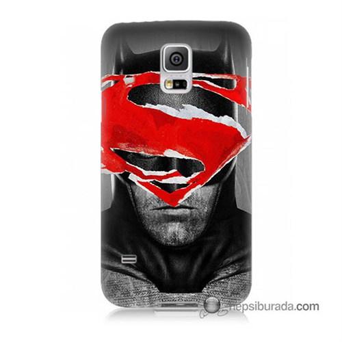 Teknomeg Samsung Galaxy S5 Mini Kapak Kılıf Batman Vs Superman Baskılı Silikon