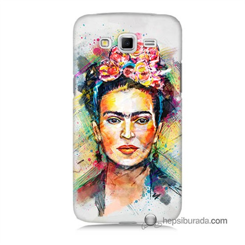 Teknomeg Samsung Galaxy Grand 2 Kapak Kılıf Frida Baskılı Silikon