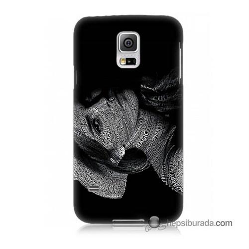 Teknomeg Samsung Galaxy S5 Mini Kılıf Kapak Yazılı Kadın Baskılı Silikon