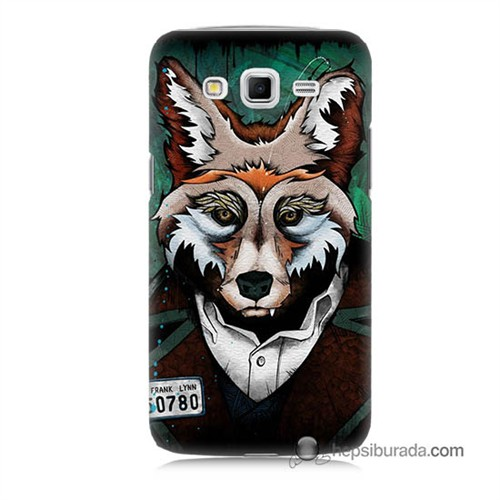 Teknomeg Samsung Galaxy Grand 2 Kılıf Kapak Bad Wolf Baskılı Silikon