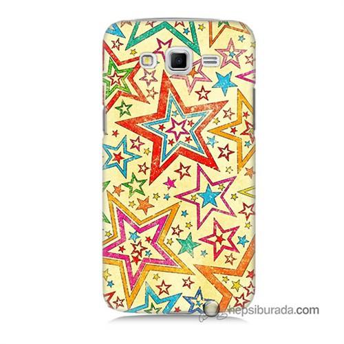 Teknomeg Samsung Galaxy Grand 2 Kılıf Kapak Yıldızlar Baskılı Silikon