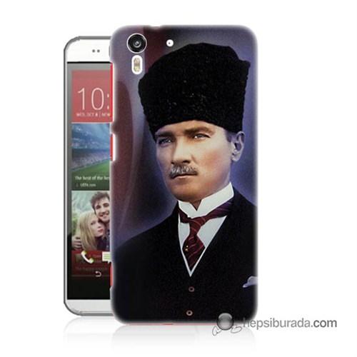 Teknomeg Htc Desire Eye Kılıf Kapak Mustafa Kemal Atatürk Baskılı Silikon