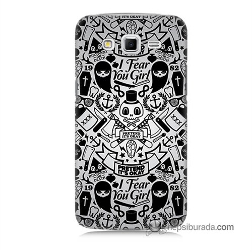 Teknomeg Samsung Galaxy Grand 2 Kılıf Kapak Karikatür Baskılı Silikon
