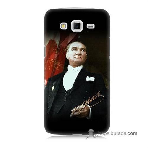 Teknomeg Samsung Galaxy Grand 2 Kapak Kılıf M.K.Atatürk Baskılı Silikon