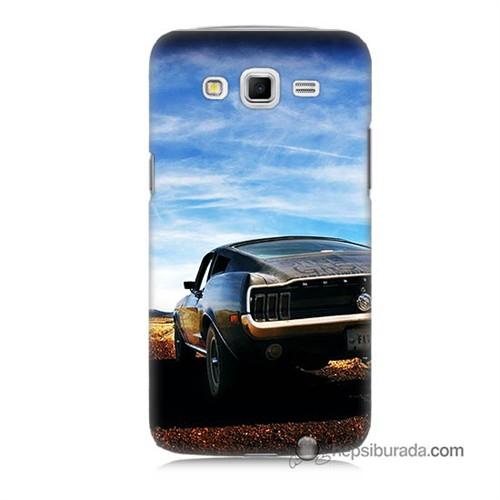 Teknomeg Samsung Galaxy Grand 2 Kılıf Kapak Mustang Baskılı Silikon