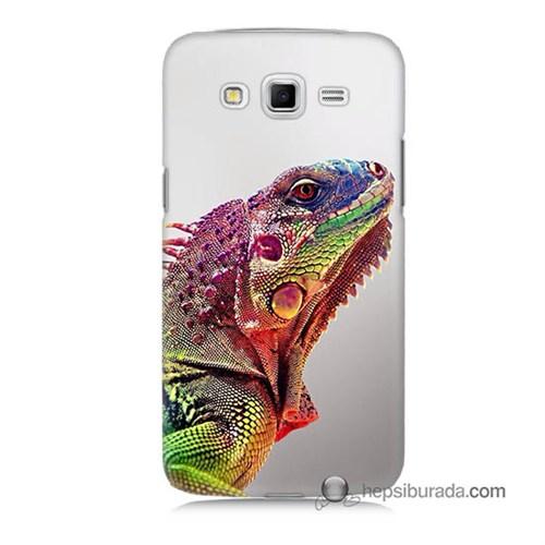 Teknomeg Samsung Galaxy Grand 2 Kapak Kılıf İguana Baskılı Silikon