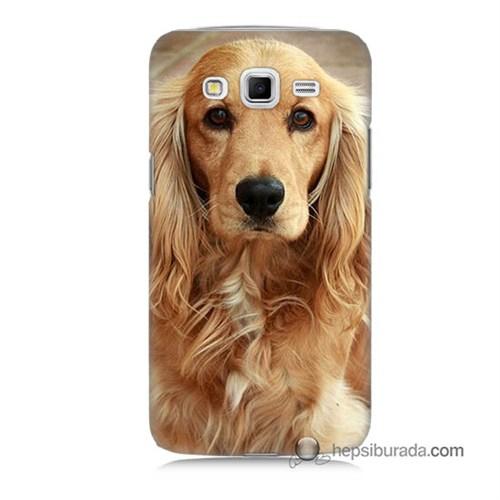 Teknomeg Samsung Galaxy Grand 2 Kapak Kılıf Köpek Baskılı Silikon