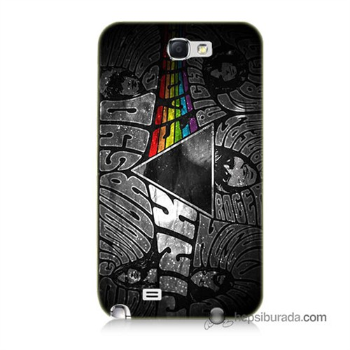 Teknomeg Samsung Galaxy Note 2 Kapak Kılıf Pink Floyd Baskılı Silikon