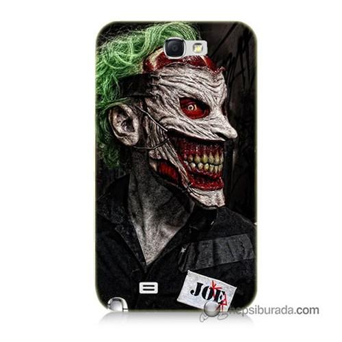 Teknomeg Samsung Galaxy Note 2 Kapak Kılıf Joker Joe Baskılı Silikon