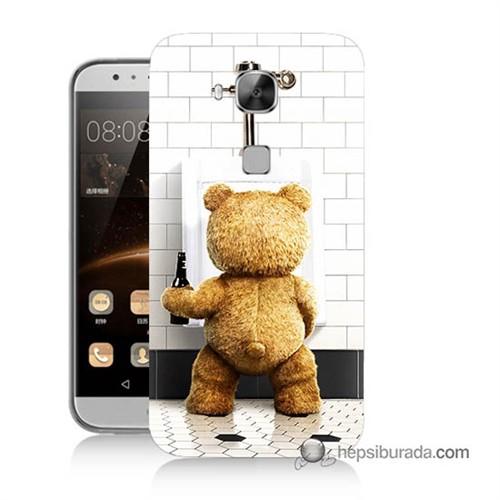 Teknomeg Huawei Ascend G8 Kılıf Kapak Tedy Bear Baskılı Silikon