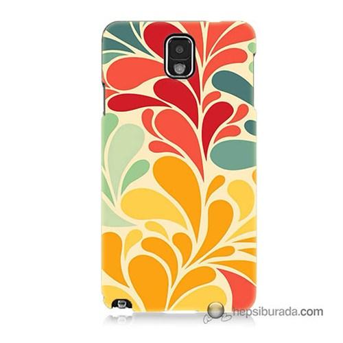Teknomeg Samsung Galaxy Note 3 Kapak Kılıf Çiçekler Baskılı Silikon