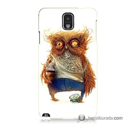 Teknomeg Samsung Galaxy Note 3 Kapak Kılıf Miskin Baykuş Baskılı Silikon