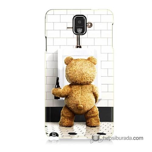 Teknomeg Samsung Galaxy Note 3 Kılıf Kapak Tedy Bear Baskılı Silikon
