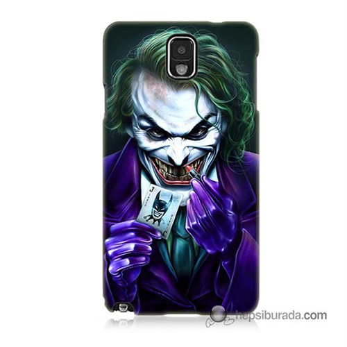 Teknomeg Samsung Galaxy Note 3 Kapak Kılıf Joker Baskılı Silikon