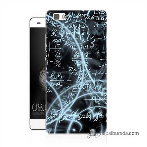 Teknomeg Huawei Ascend P8 Lite Kapak Kılıf Matematik Baskılı Silikon
