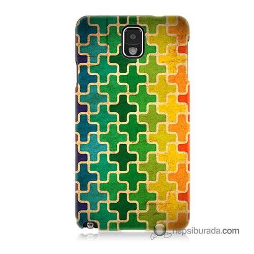 Teknomeg Samsung Galaxy Note 3 Kapak Kılıf Renkli Artı Baskılı Silikon