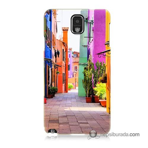 Teknomeg Samsung Galaxy Note 3 Kılıf Kapak Sokak Baskılı Silikon