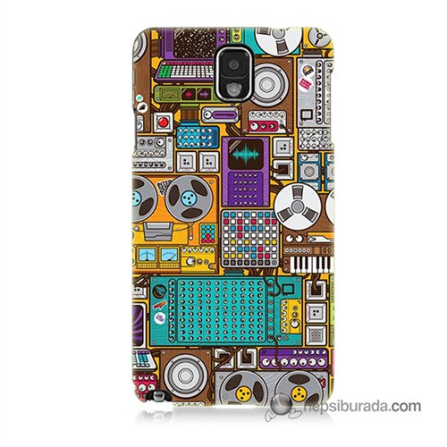 Teknomeg Samsung Galaxy Note 3 Kılıf Kapak Teknoloji Baskılı Silikon