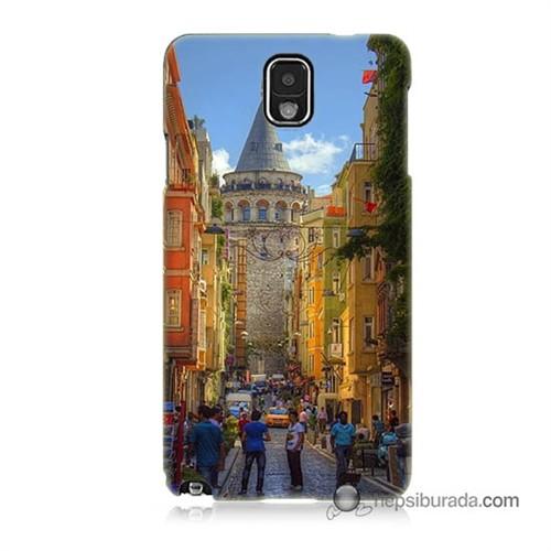 Teknomeg Samsung Galaxy Note 3 Kapak Kılıf Galata Kulesi Baskılı Silikon