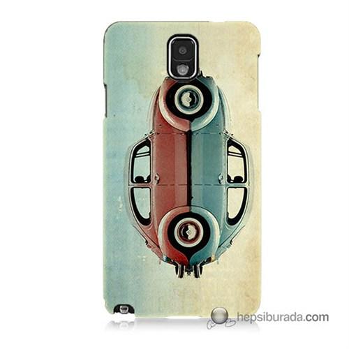 Teknomeg Samsung Galaxy Note 3 Kılıf Kapak Mavi Kırmızı Wolkswagen Baskılı Silikon