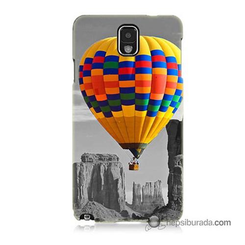 Teknomeg Samsung Galaxy Note 3 Kılıf Kapak Renkli Uçan Balon Baskılı Silikon