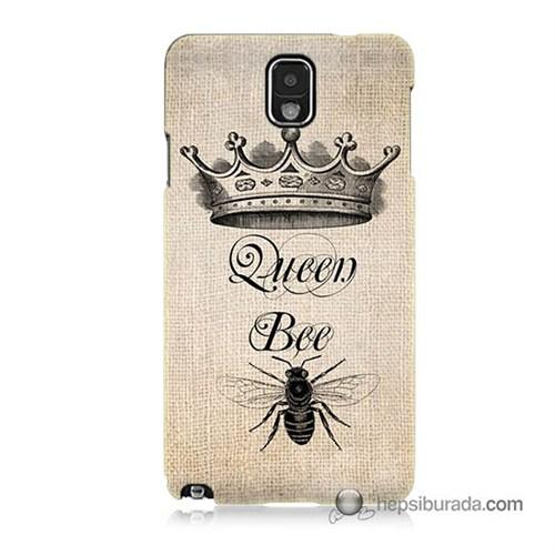 Teknomeg Samsung Galaxy Note 3 Kılıf Kapak Queen Bee Baskılı Silikon
