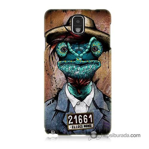 Teknomeg Samsung Galaxy Note 3 Kılıf Kapak İguana Adam Baskılı Silikon