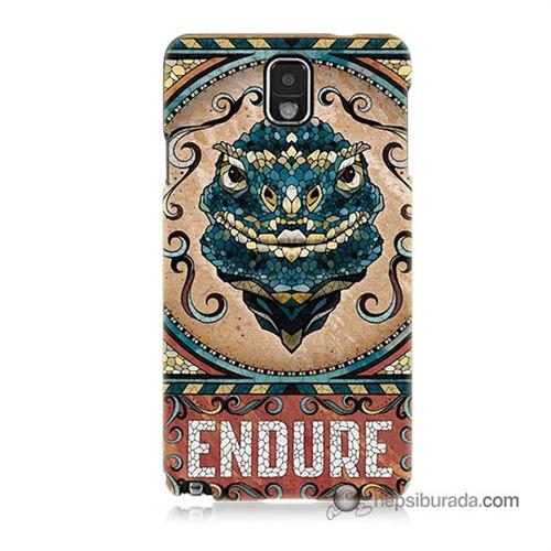 Teknomeg Samsung Galaxy Note 3 Kılıf Kapak Endure Baskılı Silikon