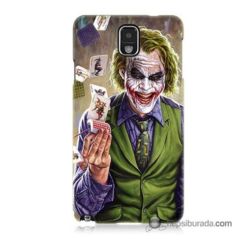 Teknomeg Samsung Galaxy Note 3 Kılıf Kapak Kartlı Joker Baskılı Silikon