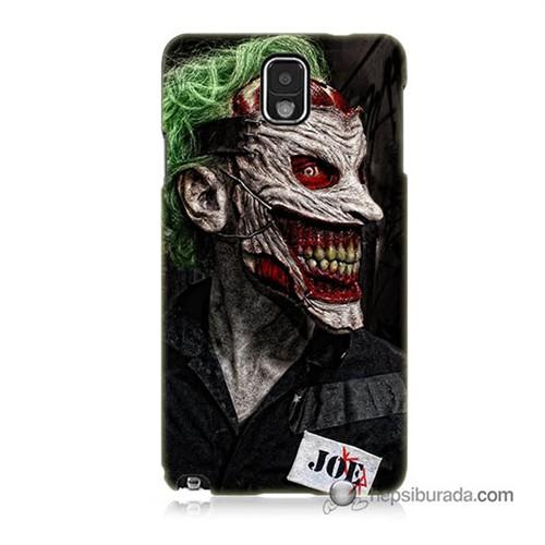 Teknomeg Samsung Galaxy Note 3 Kapak Kılıf Joker Joe Baskılı Silikon