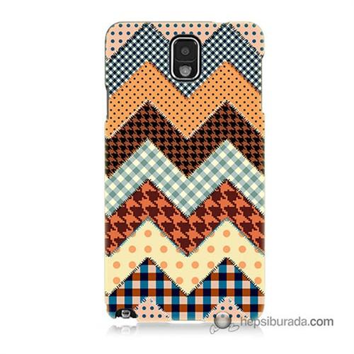 Teknomeg Samsung Galaxy Note 3 Kapak Kılıf Patchwork Baskılı Silikon