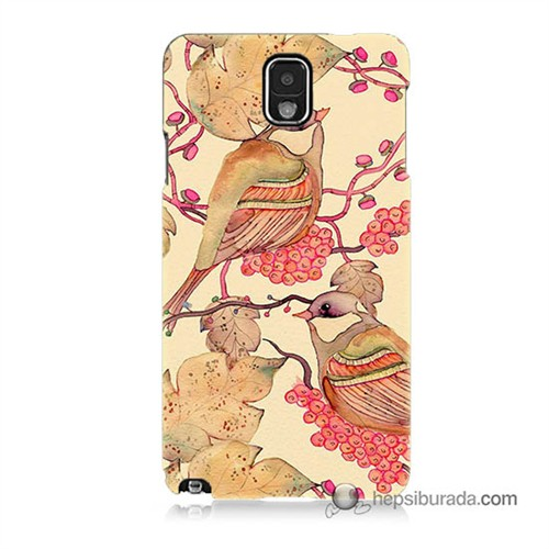 Teknomeg Samsung Galaxy Note 3 Kılıf Kapak Kuşlar Baskılı Silikon