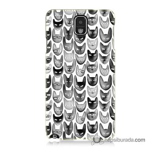 Teknomeg Samsung Galaxy Note 3 Kapak Kılıf Kediler Baskılı Silikon