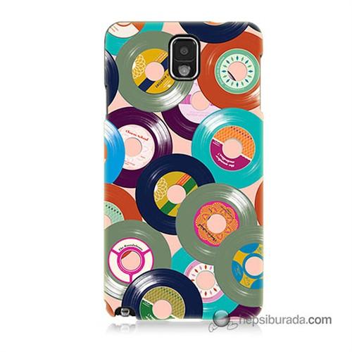 Teknomeg Samsung Galaxy Note 3 Kapak Kılıf Renkli Plaklar Baskılı Silikon