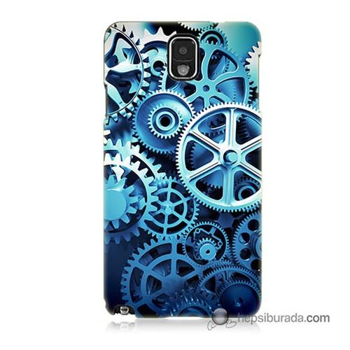 Teknomeg Samsung Galaxy Note 3 Kapak Kılıf Çarklar Baskılı Silikon