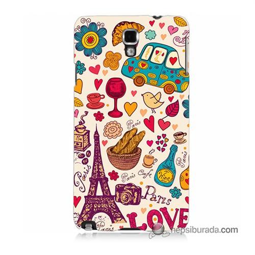 Teknomeg Samsung Galaxy Note 3 Neo Kapak Kılıf Paris Love Baskılı Silikon