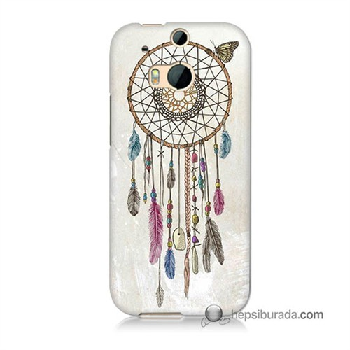 Teknomeg Htc One M8 Kapak Kılıf Dream Catcher Baskılı Silikon