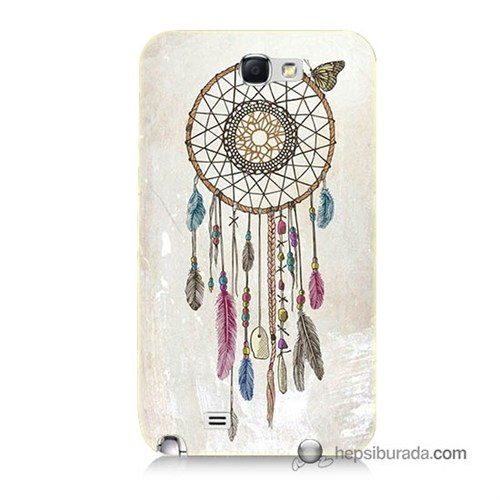 Teknomeg Samsung Galaxy Note 2 Kapak Kılıf Dream Catcher Baskılı Silikon