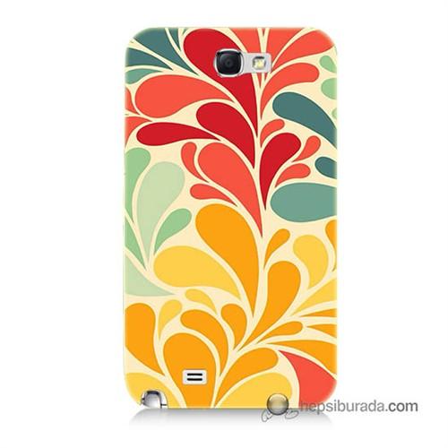 Teknomeg Samsung Galaxy Note 2 Kapak Kılıf Çiçekler Baskılı Silikon