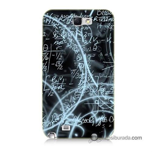 Teknomeg Samsung Galaxy Note 2 Kapak Kılıf Matematik Baskılı Silikon