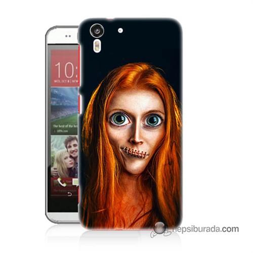 Teknomeg Htc Desire Eye Kılıf Kapak Zombie Kız Baskılı Silikon