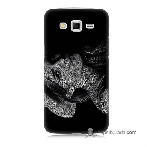 Teknomeg Samsung Galaxy Grand 2 Kılıf Kapak Yazılı Kadın Baskılı Silikon