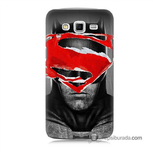Teknomeg Samsung Galaxy Grand 2 Kapak Kılıf Batman Vs Superman Baskılı Silikon