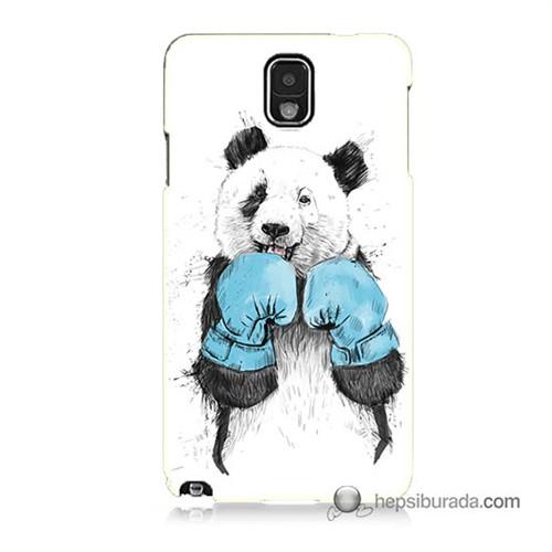 Teknomeg Samsung Galaxy Note 3 Kılıf Kapak Boksör Panda Baskılı Silikon