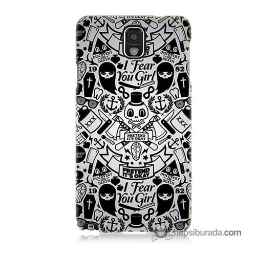 Teknomeg Samsung Galaxy Note 3 Kılıf Kapak Karikatür Baskılı Silikon