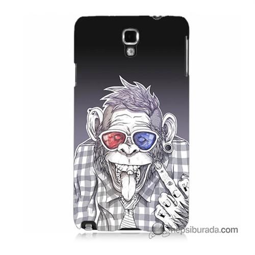 Teknomeg Samsung Galaxy Note 3 Neo Kapak Kılıf Maymun Baskılı Silikon