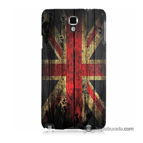 Teknomeg Samsung Galaxy Note 3 Neo Kapak Kılıf İngiliz Bayrağı Baskılı Silikon