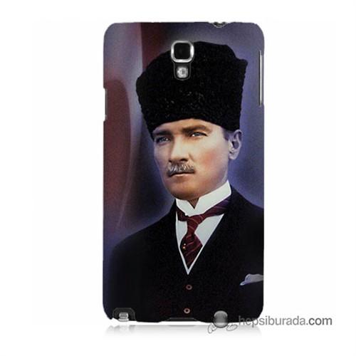 Teknomeg Samsung Galaxy Note 3 Neo Kılıf Kapak Mustafa Kemal Atatürk Baskılı Silikon