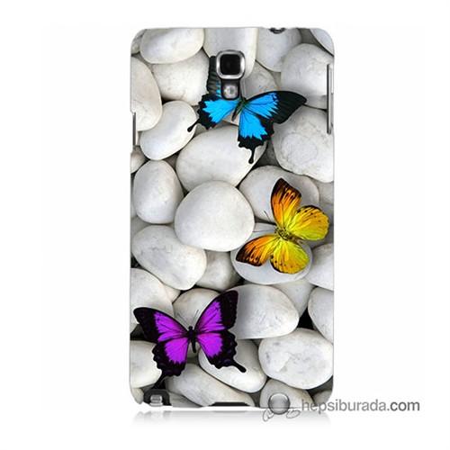 Teknomeg Samsung Galaxy Note 3 Neo Kılıf Kapak Kelebekler Baskılı Silikon