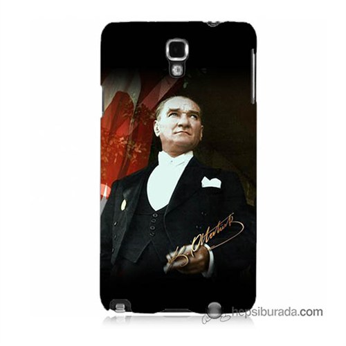 Teknomeg Samsung Galaxy Note 3 Neo Kapak Kılıf M.K.Atatürk Baskılı Silikon